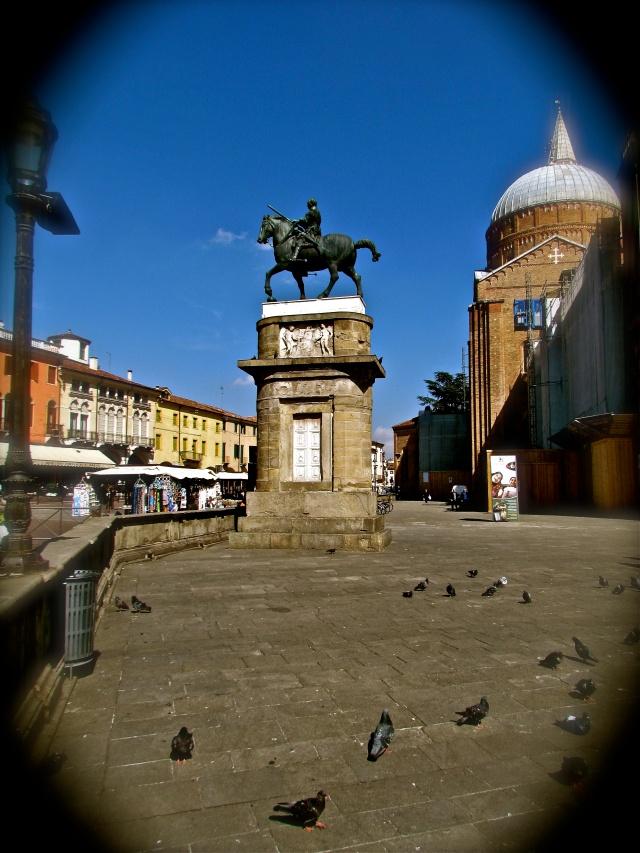 "Donatello's magnificent equestrian statue of the Venetian General Gattamelata aka ""Honey Cat"" was completed in 1450"