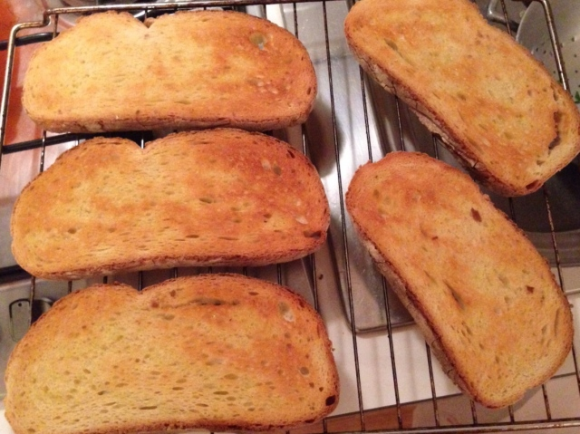This is how you want your bread to look. A nice golden color.