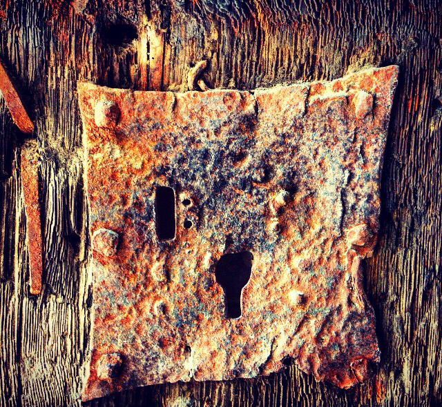 The lock on the old rusted door.. Would love to hear the stories if this old lock could talk.